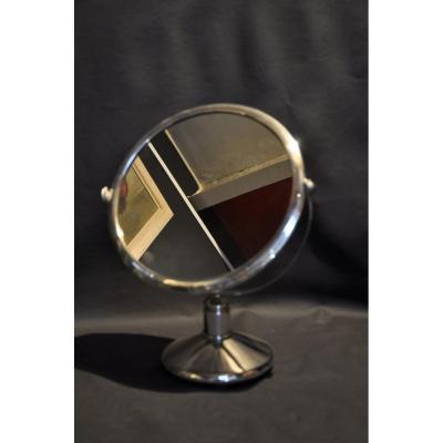 Art Deco Sterling Silver Mirror C. 1940 Wolferscompany Brussels