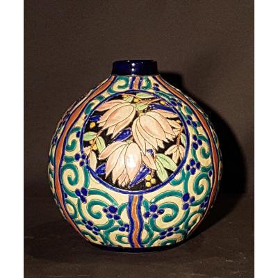 Globular Earthenware Vase - Boch Keramis