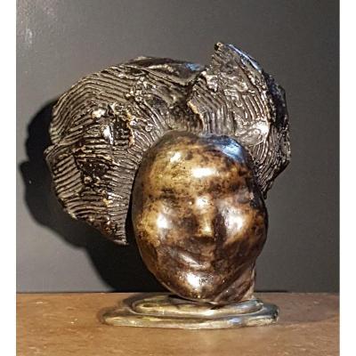 Portrait Of Beethoven (?), Bronze - Sava Botzaris