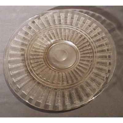 Dish, Smoked And Engraved Glass - Daum Nancy