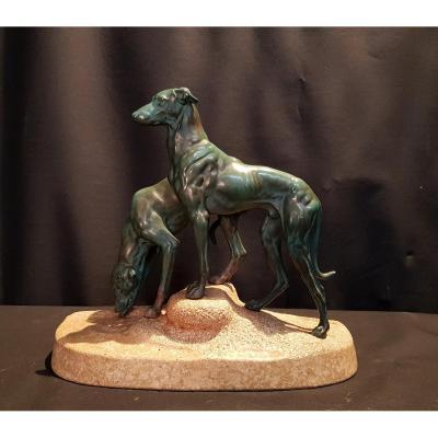 Chiens, Bronze Artistique - Jules Edmond Masson