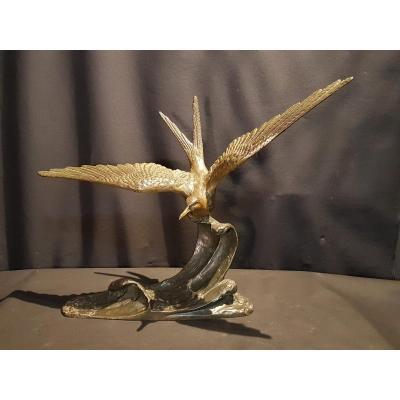Le goéland, Bronze, c. 1940 - Erget