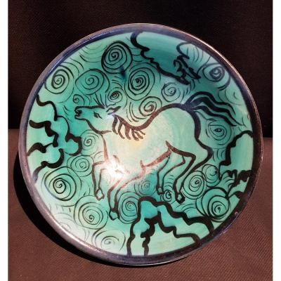 Porcelain Plate, Horse - Mmd Limoges