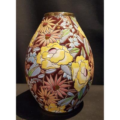 Earthenware Vase, Boch Keramis - Raymond Henri Chevalier