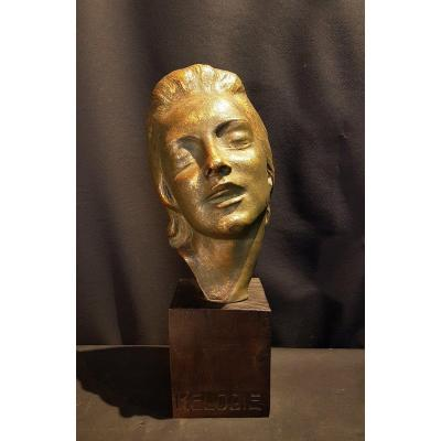 Melody, Gilt Bronze Patinated Terracotta Bust, 1945