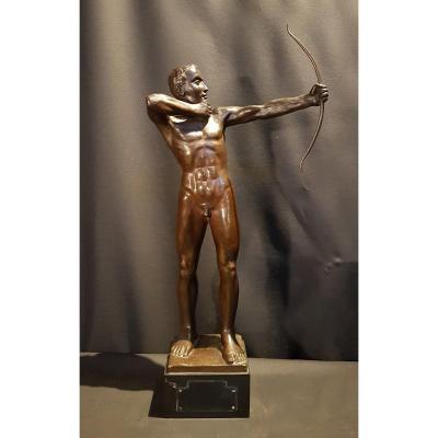 Standing Archer, Bronze, 1959 - Ernest Heylens