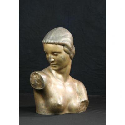Buste En Bronze - Georges Chauvel