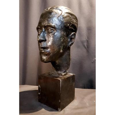 Tête, Bronze, Pièce Unique, 1935 - Jean Decoen