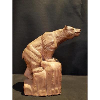 Bear, Terracotta - P. Pradel