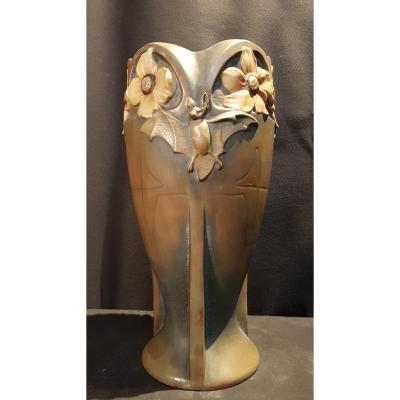 Earthenware Vase, Jugenstil - Bernard Bloch