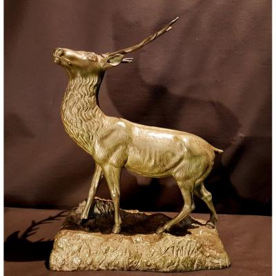 Cerf, Bronze - Arthur Puyt