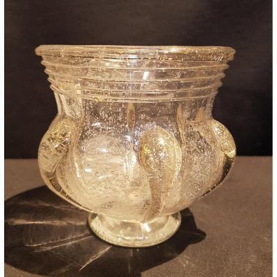 Vase en verre bullé, 1935 - Daum Nancy
