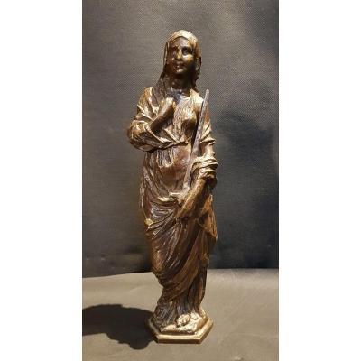 Femme Tenant Une épée (la justice), Bronze - Pierre Theunis