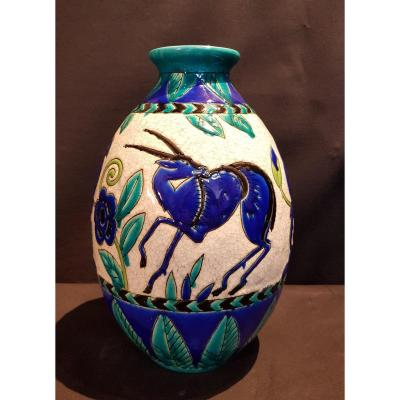 Vase En Faïence, La Maitrise - Maurice Dufrène