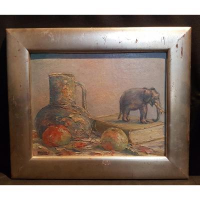 Still Life, Oil On Panel, 1920 - André Paternot