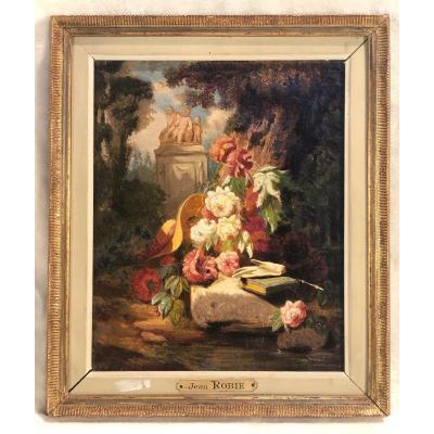 Jean Robie - Nature Morte - Hst - 20 X 25cm