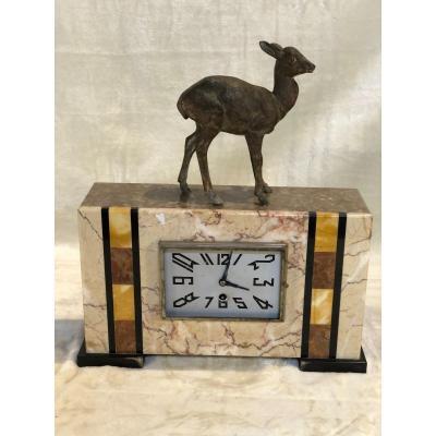 Pendule - Régule - Art-déco - 10x35x42cm