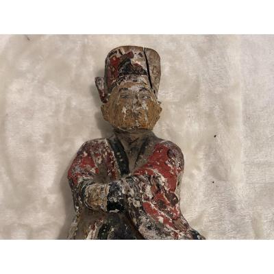 Sculpture En Bois - Personnage - Chine - 10x20cm