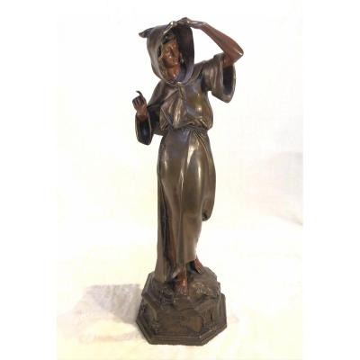 Rare Bronze Coquin Auguste De Wever - l'Habit Ne Fait Pas Le Moine - Modèle Inconnu - 17x52