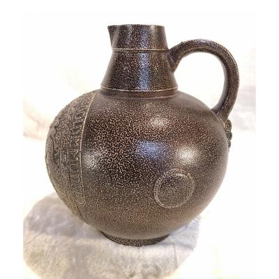German Stoneware - Early 20th Century (circa 1900) - In The Shape Of A Jug - 21 X 27cm
