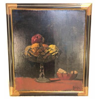 Peinture - Arno Stern - Nature Morte - Hst - 60 X 70cm