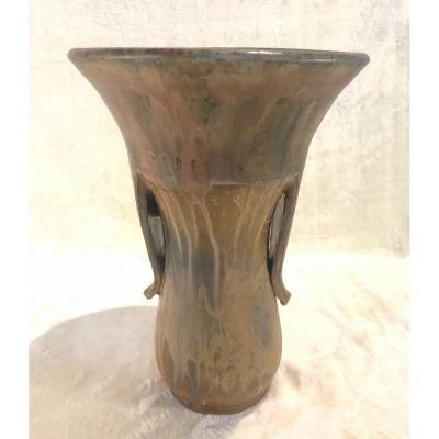 Vase Guérin - Signé Aubry - 23 X 33cm