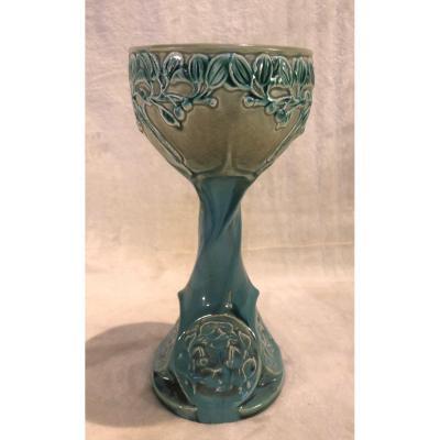 Ceramic Cup - Austrian - Art Nouveau - 11x24cm