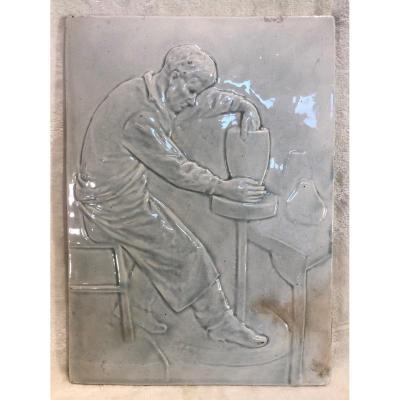 Plaque En Céramique - Wasmuel - l'Atelier - Artsite : Myrtille Mahieu - Dim. 22x30cm