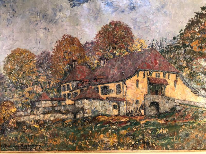 Oil On Canvas - Landscape - Signed Charles Baillon-vincennes - Dated 17 - Dim. 61 X 81cm-photo-2