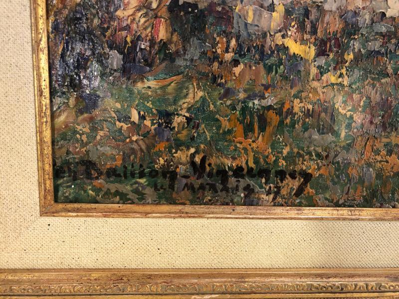 Oil On Canvas - Landscape - Signed Charles Baillon-vincennes - Dated 17 - Dim. 61 X 81cm-photo-3