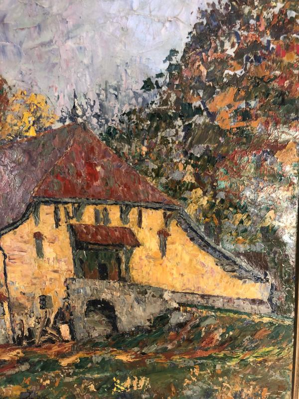 Oil On Canvas - Landscape - Signed Charles Baillon-vincennes - Dated 17 - Dim. 61 X 81cm-photo-4