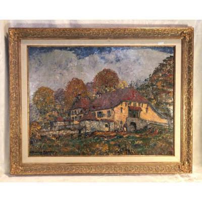 Huile Sur Toile - Paysage - Signé Charles Baillon-vincennes - Daté 17 - Dim. 61 X 81cm