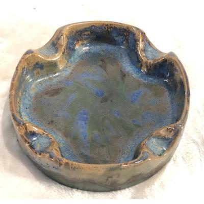 Cendrier Grès Keramis - D.661 - F.935 - Diamètre : 14 Cm - H. 4 Cm