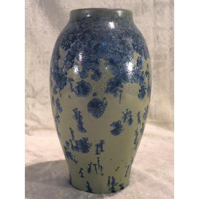 Vase En Grès Boch Kéramis - 14 X 24cm - Signé