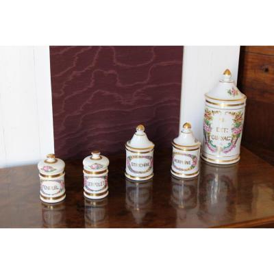 Pots De Pharmacie En Porcelaine De Paris