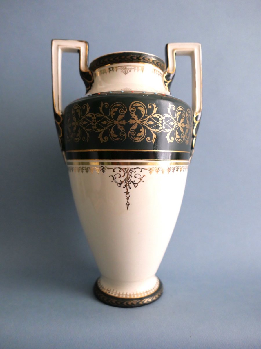Boch Keramis - Vase En Faïence De Style Empire - circa 1900