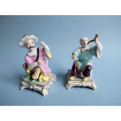 Porcelaine De Paris - Paire De Chinois