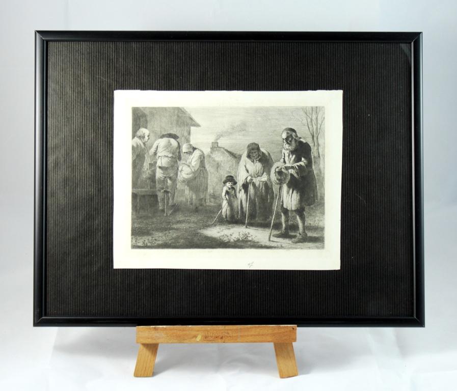 Gravure fin 18ème siècle Jean-Jacques De Boissieu 1736-1810-photo-2