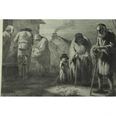 Gravure fin 18ème siècle Jean-Jacques De Boissieu 1736-1810