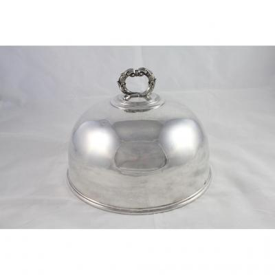Cloche In Silver Plated Metal Of François Levrat Between 1815 And 1827