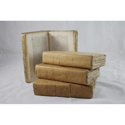 Livre 'l'année Fançoise Ou Vies Des Hommes Qui Ont Honoré La France' En 4 Volumes 1789