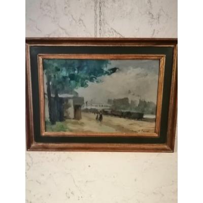 Impressionist Painting Of Paris.