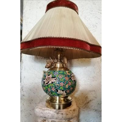 Pied De Lampe En émaux De Longwy