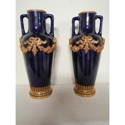 Pair Of Sèvres Porcelain Vases