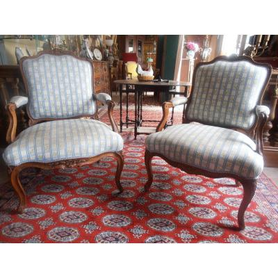 Pair Of XV Period Armchairs