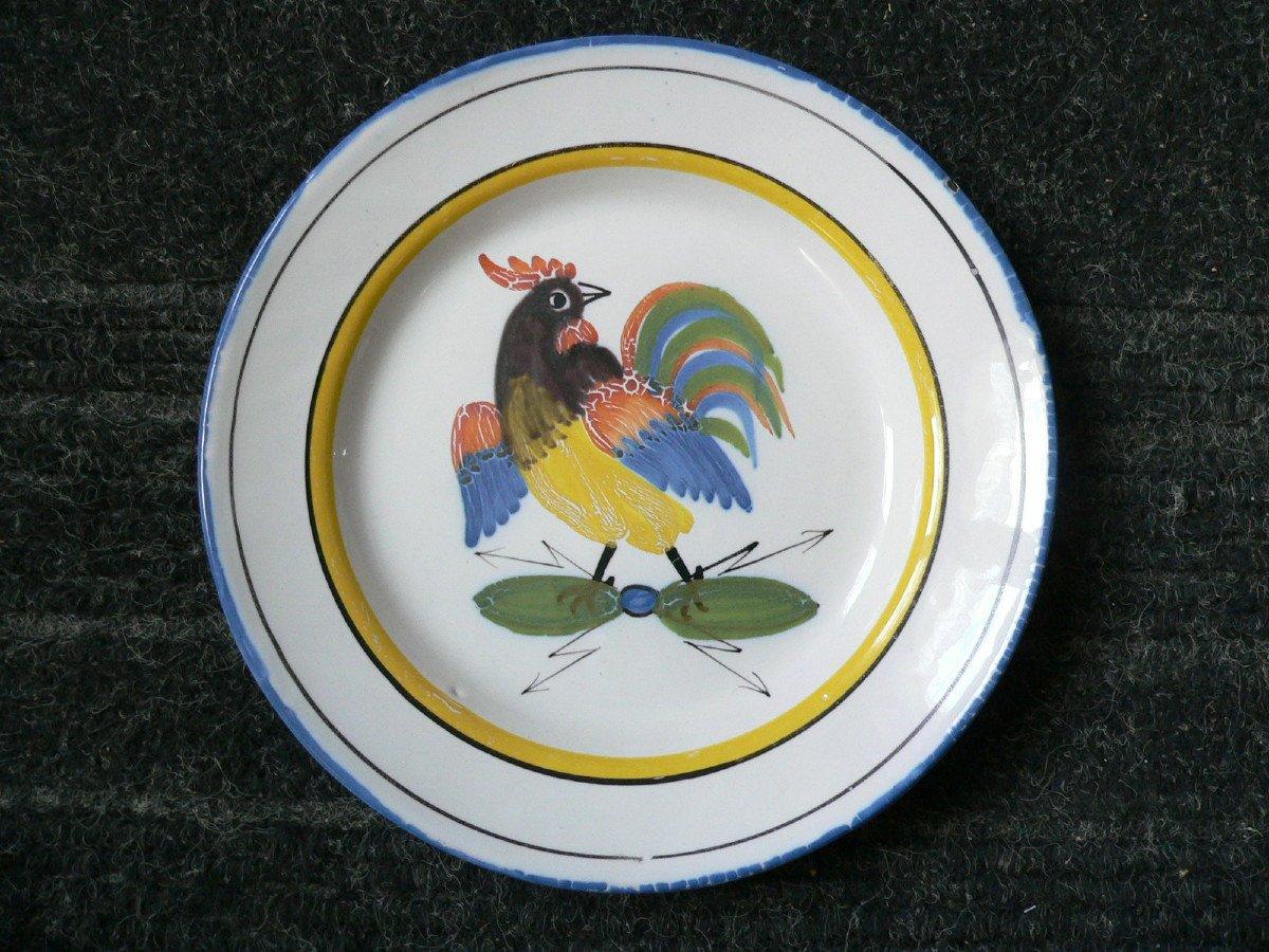 Assiette En Faïence Révolutionnaire De Waly XIXème