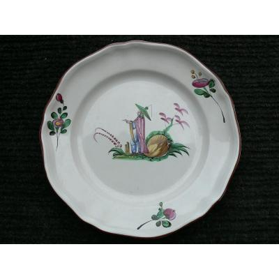 Flat In Earthenware Islettes XVIIIth Chinese Decor