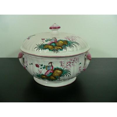 Earthenware Tureen From Lunéville Eighteenth Chinese Decor