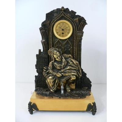 Pendule En Bronze XIXème Période Charles X