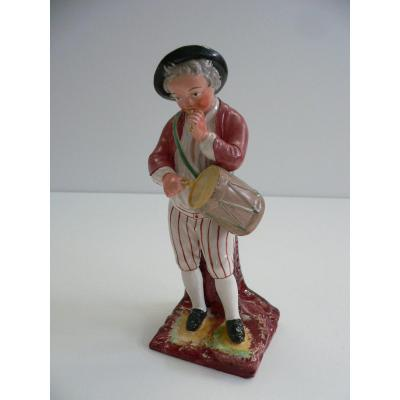 Earthenware Statuette From Lunéville Nineteenth To The Galoubet Player